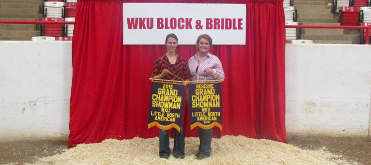 Grand Champion Showman- Lydia Richardson, Reserve Grand Champion Showman- Rachel Schmitt