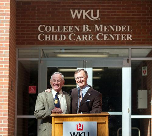 Ray Mendel and President Ransdell